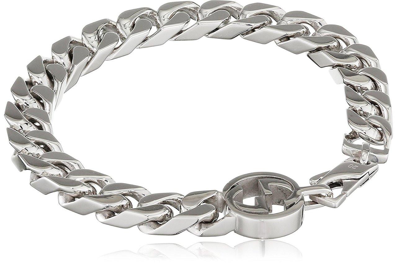 Gucci Interlocking G bracelet in silver WFf5E5lEfq