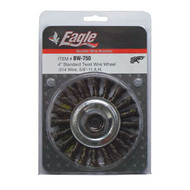 "Eagle 4"" Twist Wire Wheel .014 Wire, 5/8""-11 Arbor BW750"