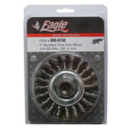 "Eagle 4"" Twist Wire Wheel (STAINLESS STEEL) - BW9750"