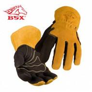 Revco BSX Premium Grain Pigskin Cowhide Black MIG Welding Gloves (BM88)