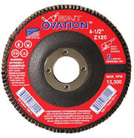 "SAIT 78011 Ovation Flap Disc (4-1/2"" x 7/8"" x 120 grit)"