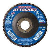 "SAIT 76208 Ovation Attacker Flap Disc (4-1/2"" x 7/8"" x 60 grit)"