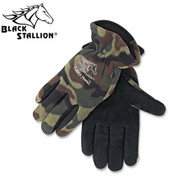 Black Stallion Fuzzy Hand Winter Gloves (15FH-CAMO)