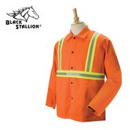 Black Stallion FR Orange Welding Coat w/Reflective Trim - 2XL (FO9-30C/RTT)
