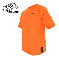 Black Stallion Orange Cotton FR T-Shirt - 2XL (FTS-ORA)