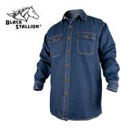 Black Stallion FR Cotton Work Shirt, Long Sleeves - Denmi (FS8-DNM)