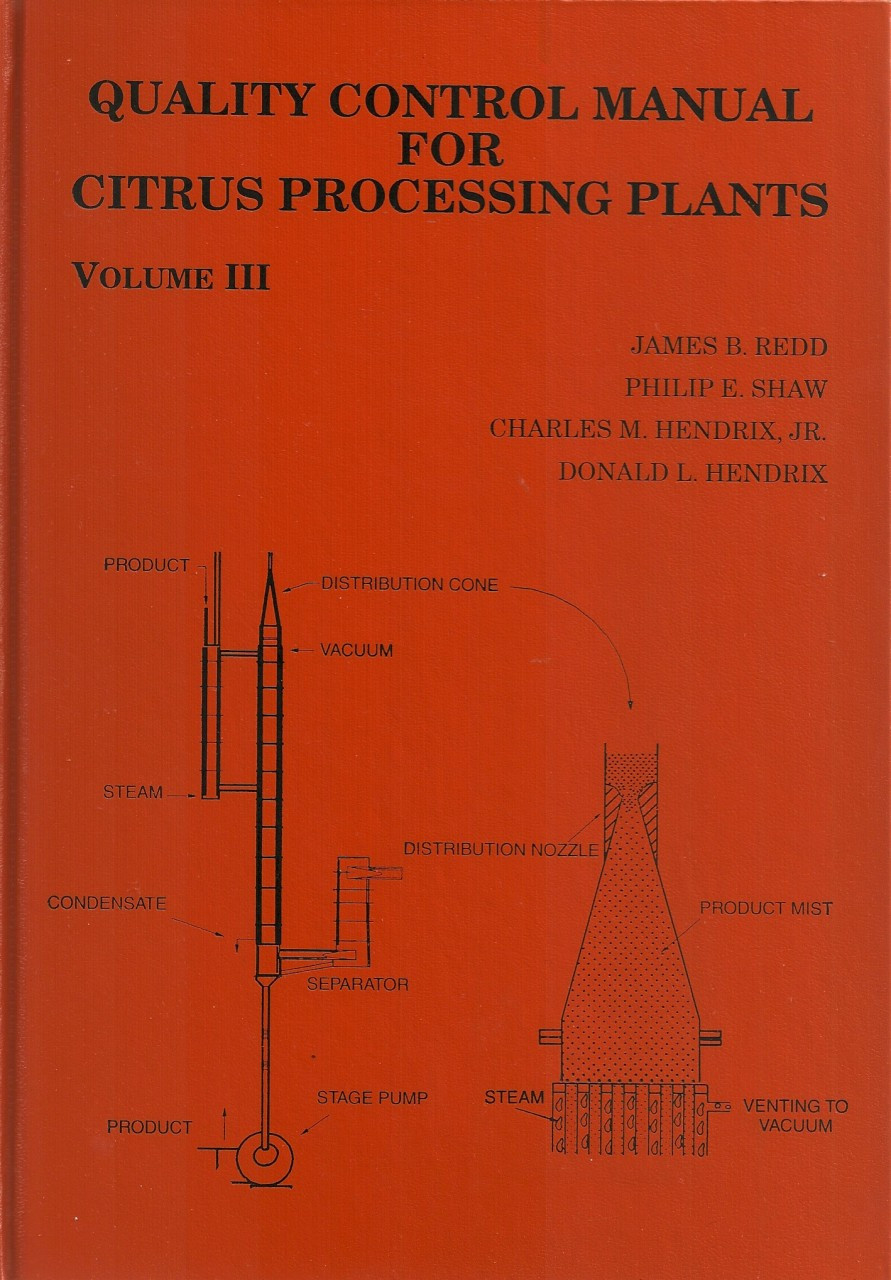 Quality Control Manual for Citrus Processing Plants, Volume III