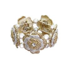 Gold and Silver Flower Bracelet