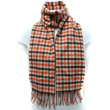Cross Line Checkered Scarf