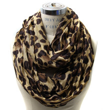 Scarfand's Crinkled Leopard Infinity Scarf