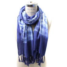 Washed Blue Paint Scarf