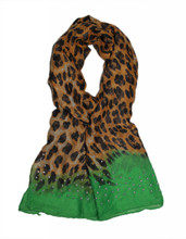 Scarfand's Leopard & Color Block Scarf