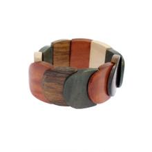 Wood Overlapping Bracelet