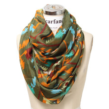 Mixed Color Jagged Infinity Scarf