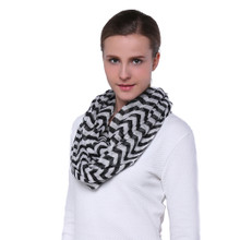 Light Weight Chevron Print Infinity Scarf