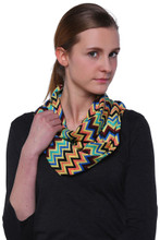 Multi-color Chevron Infinity Scarf