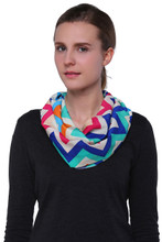 Rainbow Color Chevron Print Infinity Scarf