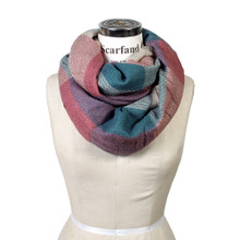 Mixed Color Blocks Infinity Scarf
