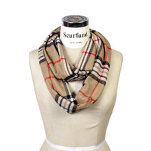 Classic Plaid Cashmere Feel Infinity Scarf