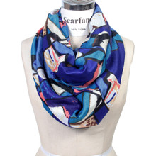 Vibrant Color Abstract Painting Infinity Scarf