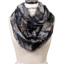 Oil Paint Print Infinity Scarf