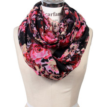 Romantic Rose Lightweight Infinity Scarf