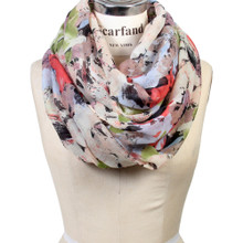 Floral And Paint Strokes Lightweight Infinity Scarf
