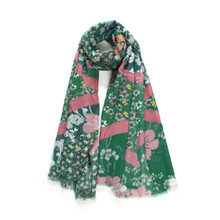 Small Floral Print Soft Fashion Shawl Scarf & Head Wrap