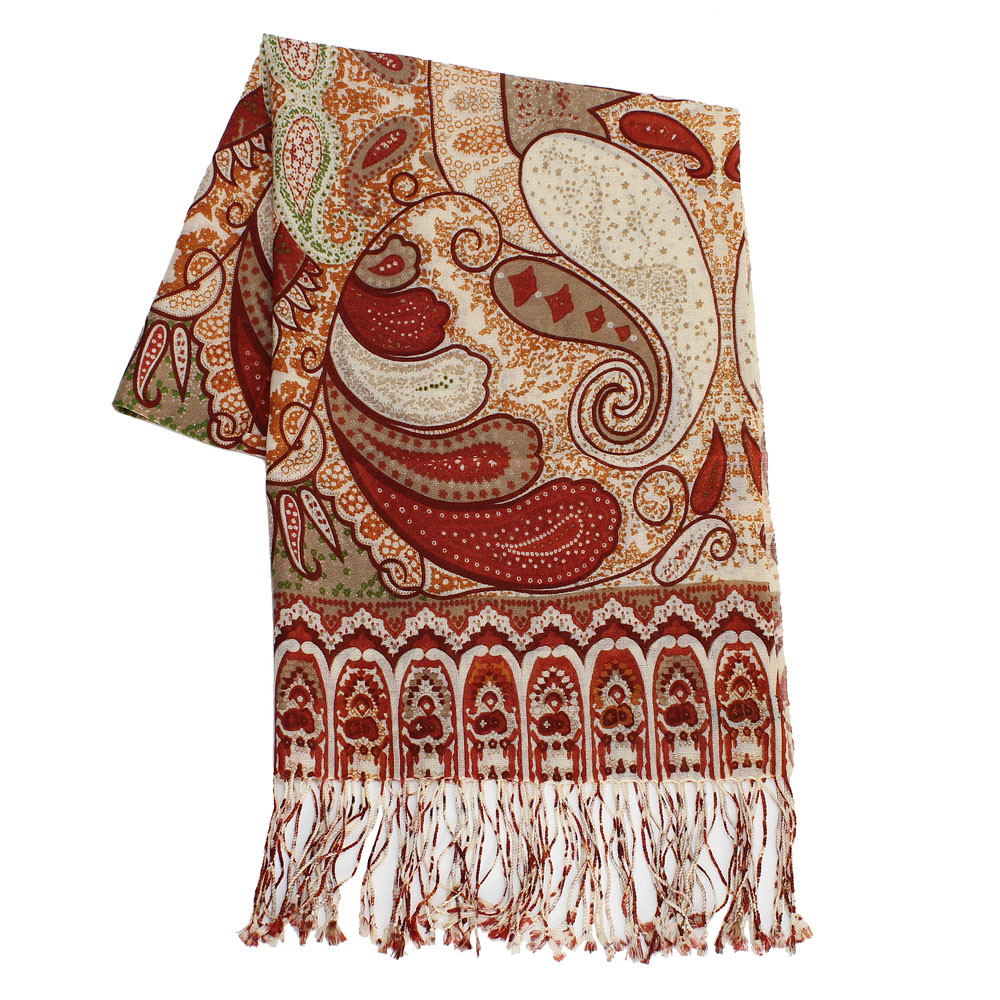 nuovo concetto c13bc eb2f1 100% Wool Indian Paisley Pashmina