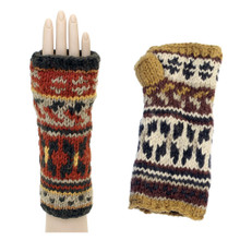 Hand Made Fingerless Knitted Gloves