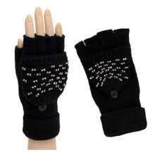 Black Convertible Gloves