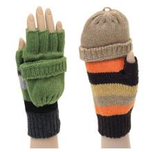 Convertible Stripe Gloves