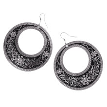 Chunky Geometric Circle Earring