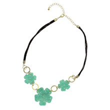 Jade Stone Flower Necklace