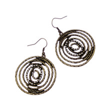 Antique Gold Spiral Earrings
