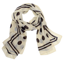 Brown Polka Dot Scarf