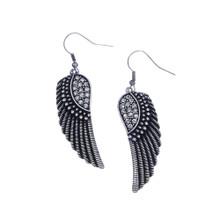 Rhinestone Wing Earrings
