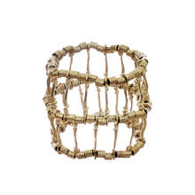 Gold-Tone Ribbed Bracelet
