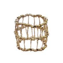 Gold-Tone Ribbed Bracelet