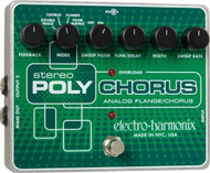 Electro-Harmonix STEREO POLYCHORUS Analog/Chorus/Flanger/Slapback Echo 24DC-100 PSU included