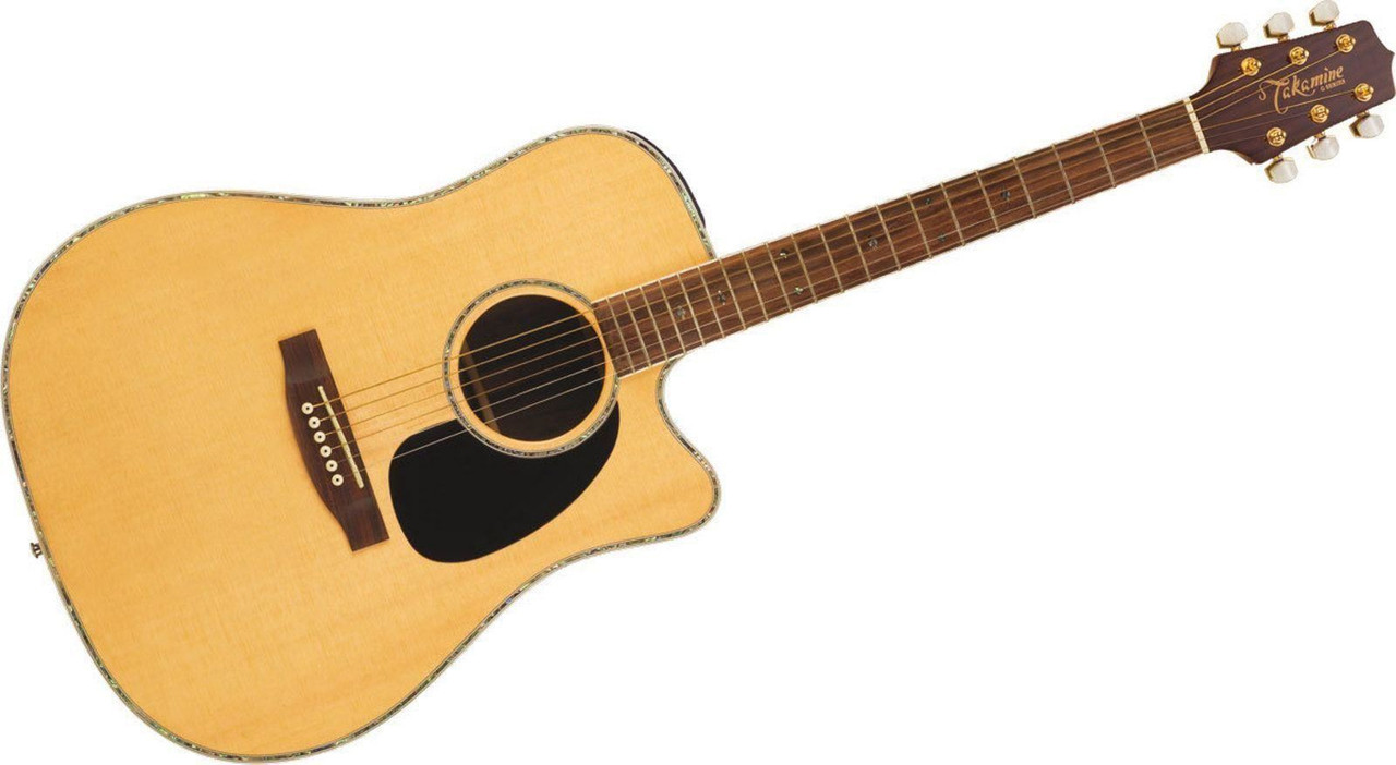 Takamine Eg360sc Acoustic Electric Dreadnought Natural 178