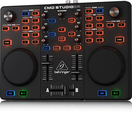Behringer Ultra-Portable Dual-Deck DJ MIDI Controller with 4-Channel Audio  Interface