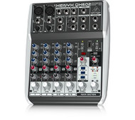 Behringer 6-Input 2-Bus Mixer with XENYX Mic Preamps-British Eqs-MP3 Player-Multi-FX