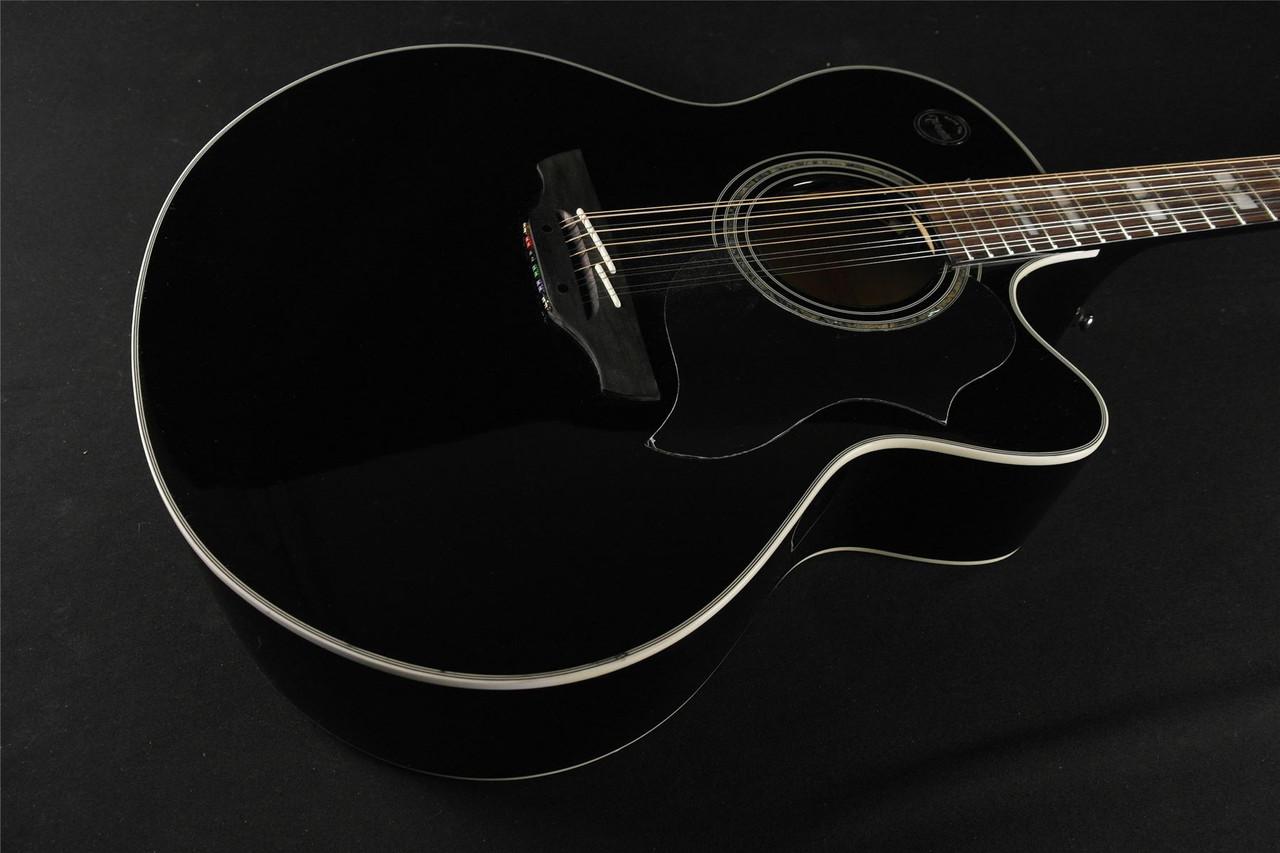 takamine eg523scb 12 g series jumbo 12 string acoustic electric black 421 tundra music inc. Black Bedroom Furniture Sets. Home Design Ideas