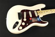 Fender American Elite Stratocaster Maple Fingerboard - Olympic White - 0114002723 (569)