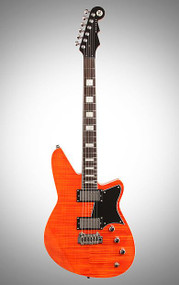 Discontinued - Reverend Bayonet RAHC Rock Orange Flame Maple - BYNTRAHC