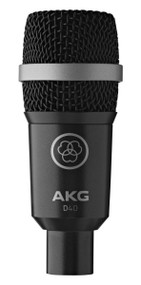 AKG D40 Professional dynamic instrument microphone for drums, percussion, wind instruments and guitar amps on stage