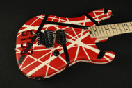 New 2017! EVH Striped Series 5150 Red, Black and White Stripes (523)