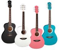 LUNA Aurora Borealis 3/4 Guitar Pink