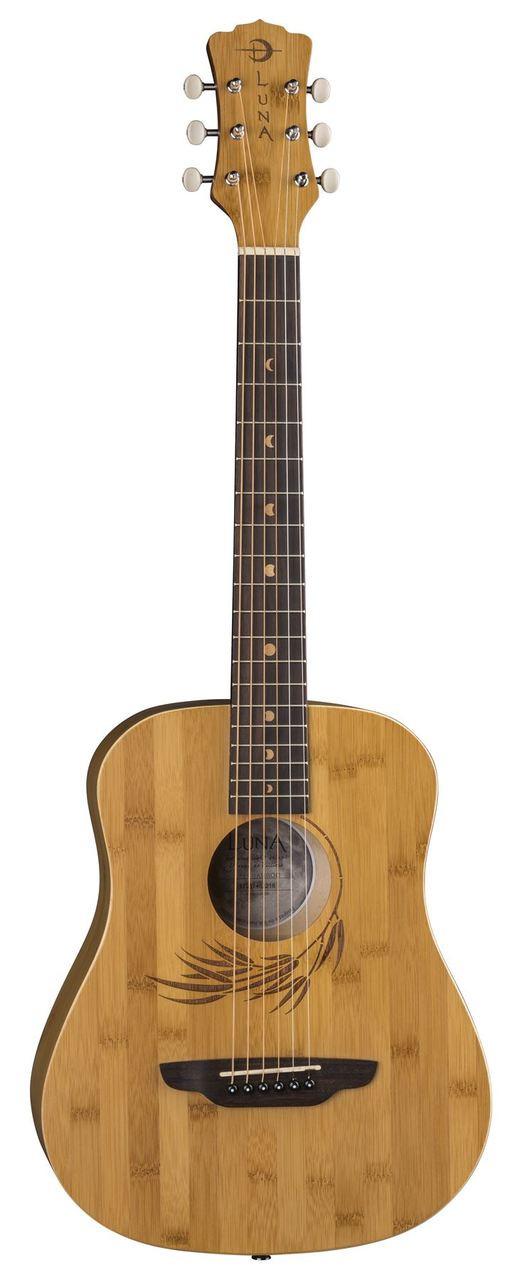 097adcf25d LUNA Safari Bamboo Travel Guitar w/Gigbag - Tundra Music INC Vintage ...